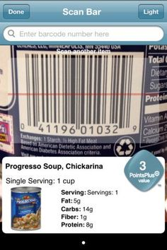 Weight Watchers Barcode Scanner App - THIS IS AMAZING!!!  You scan the barcode and it tells you the points, serving size etc, and you can add it to your tracker right then and there.  I love it and the App is free!