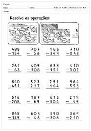 Resultado de imagem para atividades de matematica com as quatro operações para o 3ºº ano ano