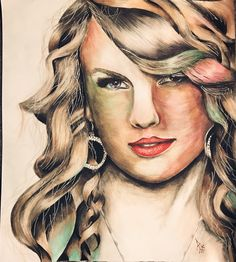 Taylor swift made with #prismacolor.