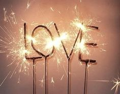 bend sparklers into letters!