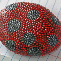 painted rocks   Lady Bug Dot Hand Painted Rock by JandEDesigns on Etsy