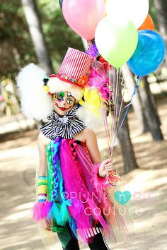 Clown Rainbow tutu Halloween Costume Reserved by punknpiecouture