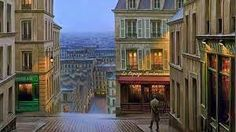 See like people lives on Montmartre