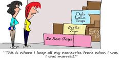 Ah, memories. #divorce #marriage #FunnyFridays #cartoon #selfstorage