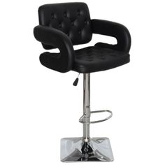 Add luxury and modern taste to your room with the Olivia adjustable swivel bar stool. This modern and sturdy adjustable swivel chair is well designed to fit any corner of your home.