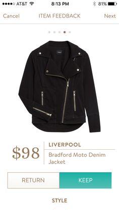 Liverpool Bradford Moto Denim Jacket I am OBSESSED with this jacket!!!!!!!