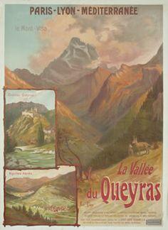 Hautes-Alpes Vintage - Queyras Valley, France. #france #pacatourism #pacatourisme #PACA #provencal #montagne #moutain #tourism #tourisme #tourismepaca #tourismpaca #travel #vintage #poster #queyras #vallee