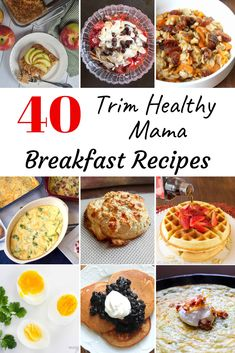 Looking for healthy Trim Healthy Mama Breakfast recipes? Here is a great roundup that includes breakfasts of all fuel types. Smoothies Shakes Eggs Waffles Biscuits THM Breakfast Casseroles and more! Trim Healthy Mama Diet, Trim Healthy Recipes, Thm Recipes, Cream Recipes, Paleo Diet, Kitchen Recipes, Bo Bun, Snacks Sains, Mama Recipe