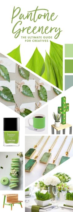 On the Creative Market Blog - Pantone Greenery: What Every Creative Needs to Know