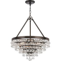 Cast a shimmering glow over your dining room or foyer with this stylish chandelier, showcasing a vibrant bronze finish and cascading teardrop accents.