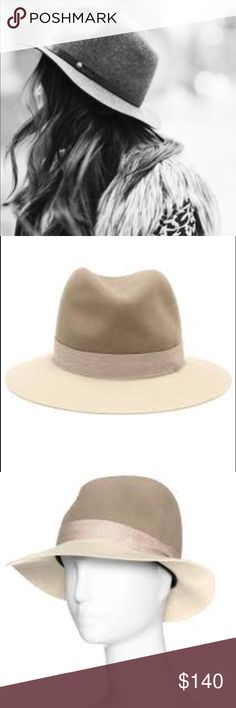 NWT Rag and Bone floppy brim felt fedora. NWT Keep your head warm in style with this two tone Rage and Bone fedora. Size M rag & bone Accessories Hats