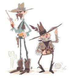 all work ©Ian Abando 2012 Character Types, Character Design, Gesture Drawing, Country Art, Old West, Westerns, Cow, Sketches, Animation