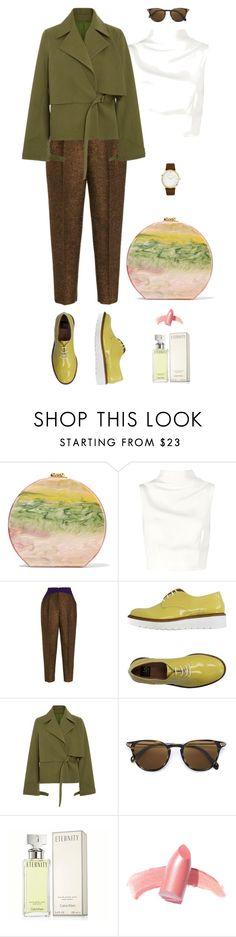 """Rainbow Jiving"" by mttakes ❤ liked on Polyvore featuring Edie Parker, Keepsake the Label, Delpozo, ISLO, Rosie Assoulin, Oliver Peoples, Calvin Klein, Elizabeth Arden and Larsson & Jennings"