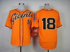 Cheap Wholesale Mens 2014 San Francisco Giants  18 Matt Cain Alternate  Orange Cool Base Jersey Size M-XXXL Instock.Email US 664c60289