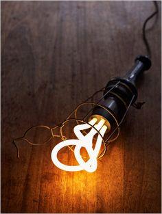 great shot of a pendent light - lovin the Plumen Designer Light Bulb too! see more at fatshackvintage.com.au