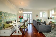Dining + Living Room - contemporary - dining room - other metro - Leanne McKeachie Design