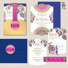 The Sophia Flat Card Invitation by AprilTwentyFive on Etsy
