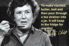 Julia Child cooking hint