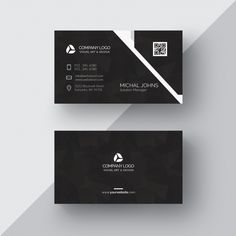 Black business card with silver details Free Psd Card Company Business Cards, Make Business Cards, Letterpress Business Cards, Black Business Card, Free Business Card Templates, Professional Business Cards, Business Card Design, Print Templates, Letterhead Design