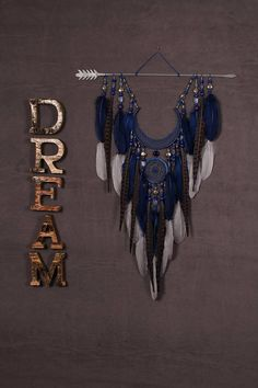 Arrow Dreamcatcher Moon Dreamcatcher grey dreamcatcher blue dreamcatcher copper dreamcatcher native american Indian talisman boho wall decor for example - production time days ******************************************* lapis lazuli - attracts prosper Dream Catcher Decor, Dream Catcher Boho, Dream Catchers, Moon Dreamcatcher, How To Calm Nerves, Deco Boheme, Selling On Pinterest, Beautiful Dream, Sun Catcher