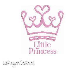 Modern cross stitch pattern little princess by LeRayonDeSoleil, €3.00