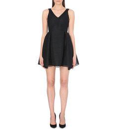 MAJE - Rayure striped-mesh dress   Selfridges.com