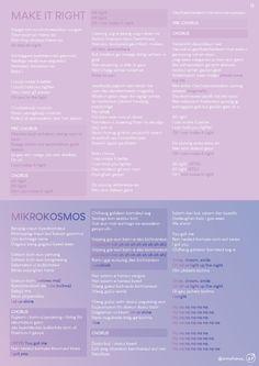 Liste des chansons et fanchants pour la tournée Speak Yourself Pop Lyrics, Bts Song Lyrics, Bts Lyrics Quotes, Bts Qoutes, Pink Song Lyrics, Seventeen Lyrics, Song List, Bts All Songs List, Bts Wallpaper Lyrics