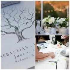 Fingerprint Tree Wedding Guestbook.
