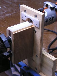 Binding Jig. Page has many jigs for building guitars.