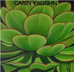 """Succulent original oil 24""""x24""""by Carin Vaughn  http://www.etsy.com/listing/96071168/succulent-original-oil-24x24by-carin"""