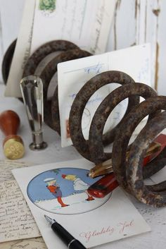 Old Car Parts Ideas - Car Springs Upcycled into Mail Organizers - DIY Seat Belt Buckle Keychain - DIY Projects Car Furniture, Upcycled Furniture, Furniture Ideas, Furniture Design, Handmade Furniture, Modern Furniture, Car Parts Decor, Crafts To Make, Diy Crafts