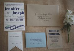 Nautical wedding invitations | Photo by Lime Green Photography | 100 Layer Cake
