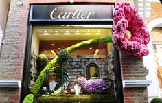 Retailers including Cartier entered displays at the 2012 Chelsea Flower Show