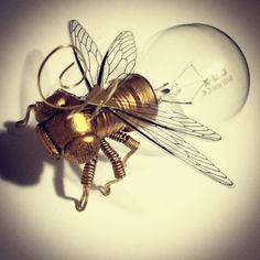 Steampunk Art Clockwork Fly/insecten door spankyspanglerdesign