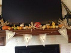 Fall banners for your mantle #falldecor #mantlebanner #homedecor