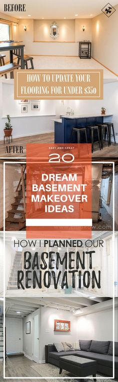 Dream Basement Remodeling & Renovation ideas - tips Before & After Ideas Basement Decorating, Basement Makeover, Basement Renovations, Cheap Diy Home Decor, Diy Home Crafts, Simple Diy, Easy Diy, Rustic Stairs, Diy Ideas