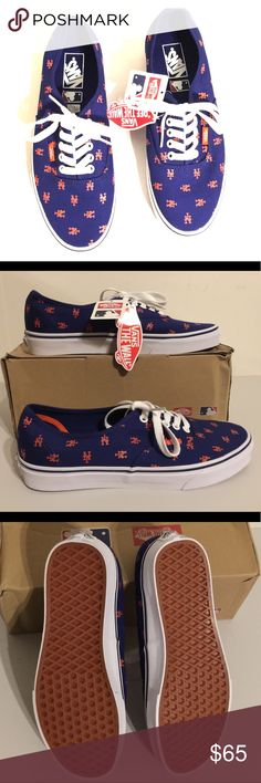 5b4d3164148b NWT Vans New York Mets Authentic MLB Shoes Show your team spirit and  support your favorite team. Go Mets! Unisex  M Vans Shoes Sneakers