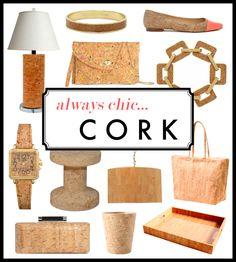 Kelly Market: ALWAYS CHIC....CORK  love the lamp!