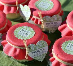 Mason Jar Candle Wedding Favors - Garden Therapy