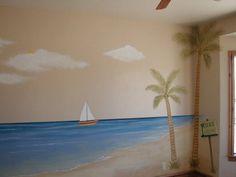 Kids Room Beach Mural Design