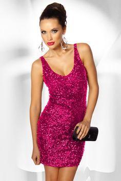 #Pailletten #Minikleid pink - Kleidung Onlineshop