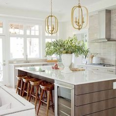 Pendant lights like these are great conversation pieces and attention grabbers.