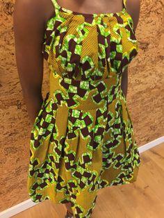 African Print Pleated Sun Dress by ifenkili on Etsy