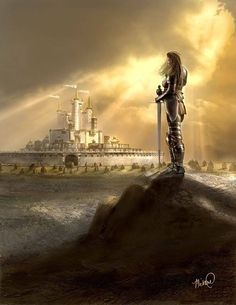 Artwork: central city by fantasy artist Michael Leadingham. See more artwork by this featured artist on the fantasy gallery website. The Pilgrim's Progress, Between Two Worlds, Throne Of Glass Series, Gallery Website, Bride Of Christ, Prophetic Art, Central City, White City, Warrior Princess