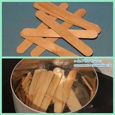 Faites bouillir des bâtonnets en bois dans l'eau ils se transforment en bracelet