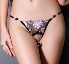 Brand Sexy G-string Underwear Panties Brief Lace Seamless for Women Thong Breathable Luxurious Lingerie Underpants Glass Pendant