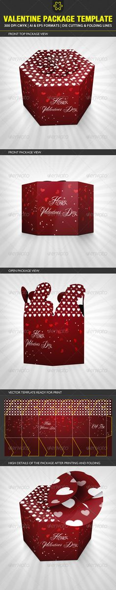 Valentine Package Template - Packaging Print Templates 2598527