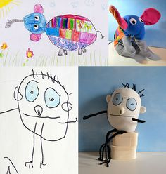 Wendy Tsao makes adorable soft toys inspired by the drawings of young children