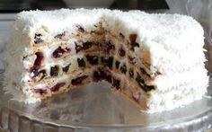 Торт «Вишня в снегу». Рецепт с пошаговыми фото