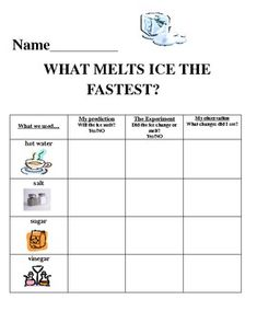 This is a fun hands-on science experiment to do in your classroom to accompany any winter unit, a lesson on solids and l Preschool Science, Elementary Science, Science For Kids, Science Activities, Summer Science, Science Fun, Science Education, Earth Science, Kids Science Fair Projects